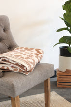 Load image into Gallery viewer, Taupe Animal Print Blanket