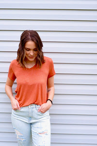 Terracotta Knit Top