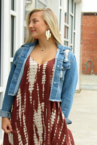 Colina Tie Dye Brown Dress