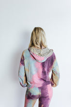 Load image into Gallery viewer, Purple Tie Dye Hoodie Lounge Set