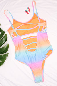 Tie Dye One Piece Swimsuit