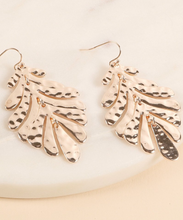 Load image into Gallery viewer, Tropical Leaf Earrings