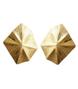 Asimetric Gold Earrings