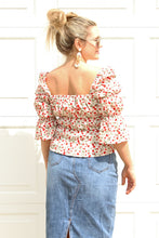 Load image into Gallery viewer, Wild Flower Smocked Top