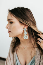 Load image into Gallery viewer, Patricia Sage Bead Flower Earrings