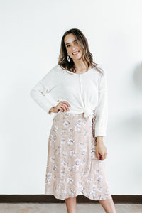 Love Wrap Mauve Floral Dress