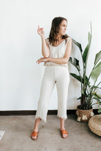 Load image into Gallery viewer, Fringe Tan Cropped Pants