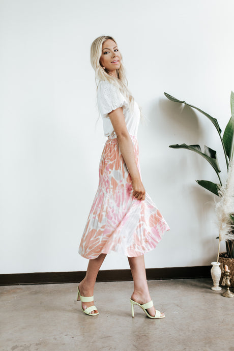 Cosmic Tie Dye Pleated Skirt