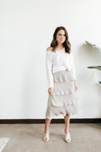 Load image into Gallery viewer, Gray Ruffle Tiered Skirt