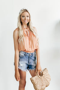 Darla Cut Off Denim Shorts