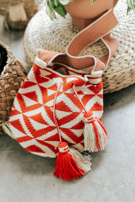 Orange and Natural Wayuu Dream Bags