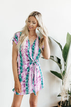 Load image into Gallery viewer, Lizzy Snake Print Wrap Dress