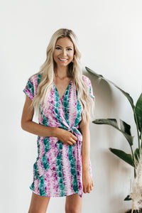 Lizzy Snake Print Wrap Dress