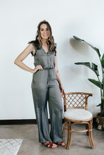 Load image into Gallery viewer, Sedona Ruffle Shoulder Jumpsuit