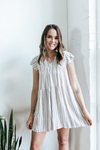Load image into Gallery viewer, Naples Striped Baby Doll Dress