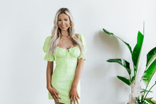 Load image into Gallery viewer, Lemonade Green Mini Dress