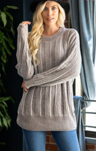 Load image into Gallery viewer, Cable Knit Chenille Sweater