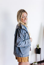 Load image into Gallery viewer, Public Interest Cargo Denim Jacket