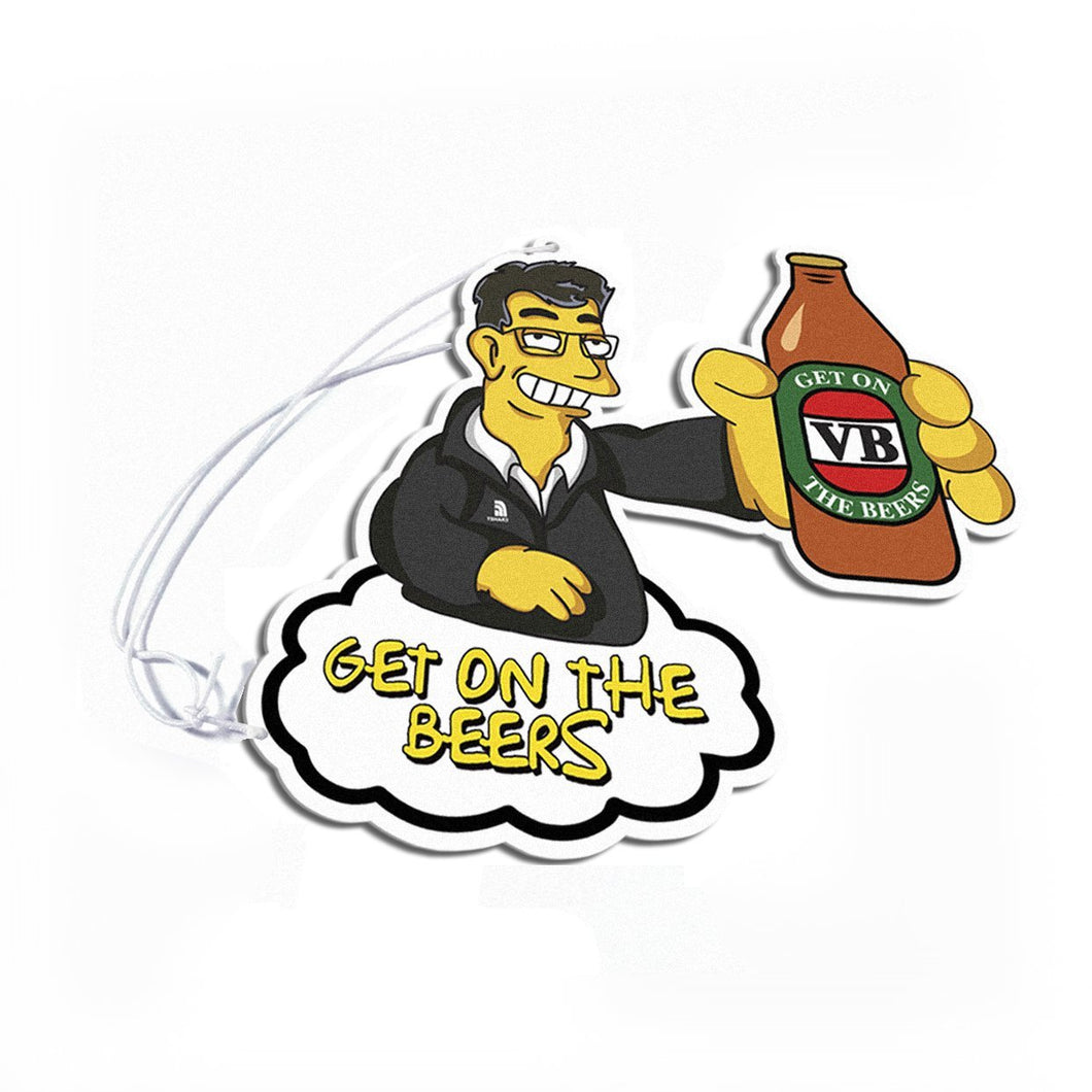 Dan Andrews Get On The Beers Air Freshener - TSHARE
