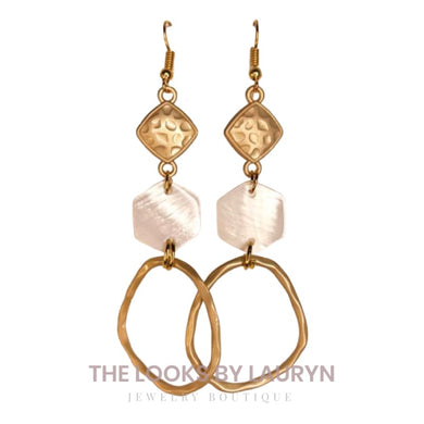 Matte Pearl Hoop Earrings - the looks by lauryn