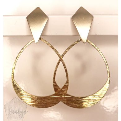 Brushed Gold Girlfriend Earrings - The Looks by Lauryn