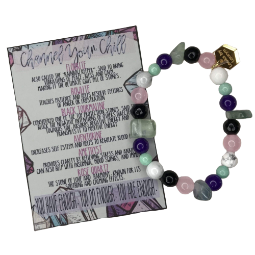 Channel Your Chill Crystal Stress Relief Bracelet - The Looks by Lauryn
