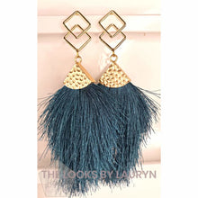 Load image into Gallery viewer, Earth Tone Fringe Earrings - The Looks by Lauryn
