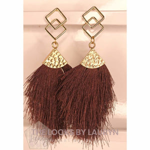 Earth Tone Fringe Earrings - The Looks by Lauryn