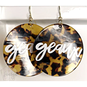 Geaux Tortoise Earrings - The Looks by Lauryn