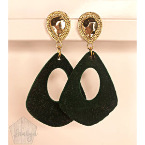 Green Velvet Earrings NA - The Looks by Lauryn