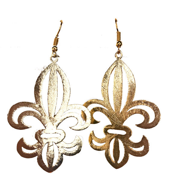 Gold Brushed Fleur De Lis - The Looks by Lauryn