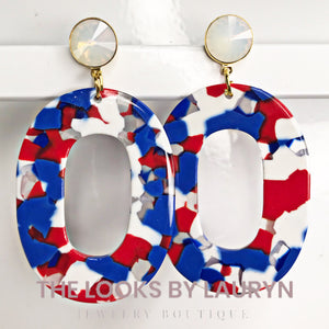 Oval Acetate Earrings