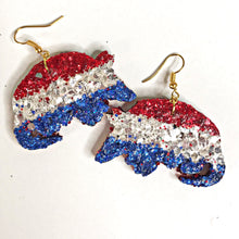 Load image into Gallery viewer, red white and blue armadillo earrings - the looks by lauryn