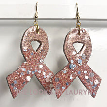 Load image into Gallery viewer, Awareness Ribbon Earrings