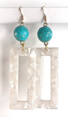 TURQUOISE AND WHITE ACETATE | HANDMADE JEWELRY | LOOKS BY LAURYN - The Looks by Lauryn