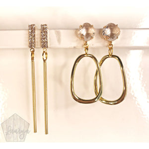 Pave Drop Earrings - The Looks by Lauryn