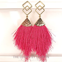Load image into Gallery viewer, pink fringe earrings