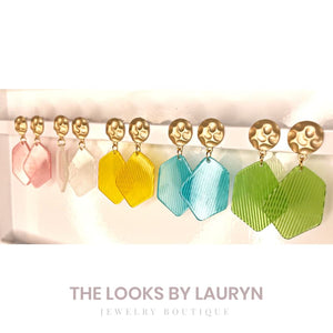 Striped Tutti Fruity Earrings - The Looks by Lauryn