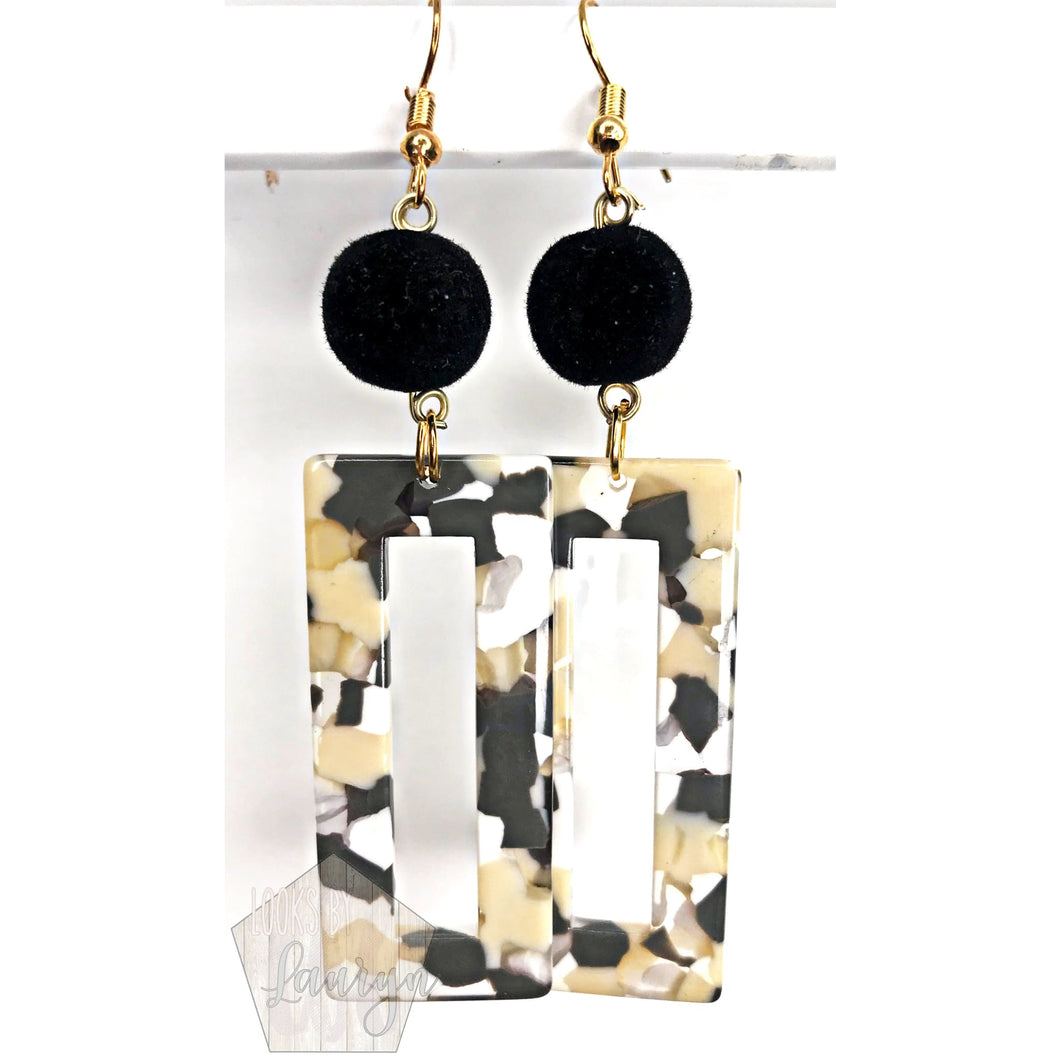 Velvet Black and Tan Earrings - The Looks by Lauryn