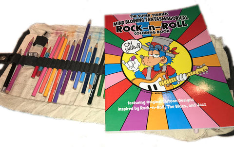 Rock and Roll Cartoon Coloring Book