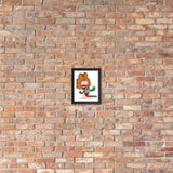Classic Rock Band Singer Framed Cartoon Music Print