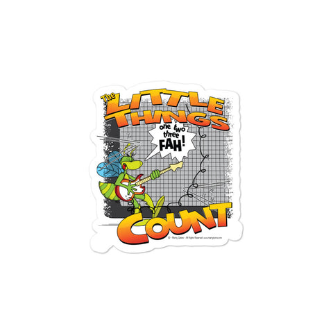 The Little Things Count Cartoon Bug Bubble-free stickers