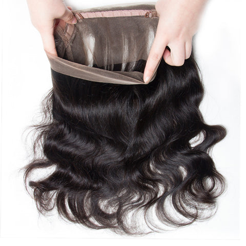 360 Degree Human Hair Frontal Closure Body Wave