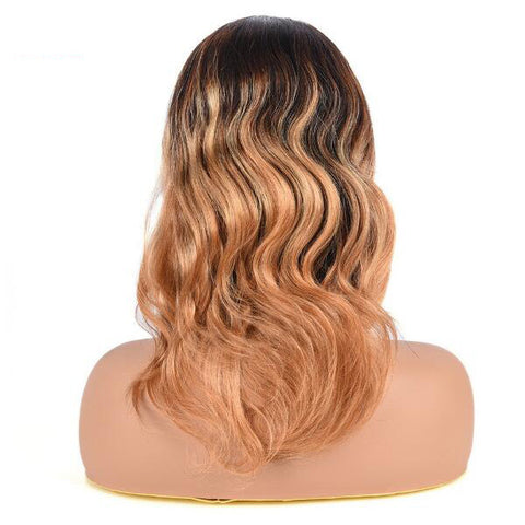 Ombre 1B/4/27# Full Lace Human Hair Wigs Bodywave