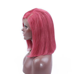 BoB Lace Front Wigs Colored-Pink