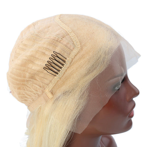 Lace Front Human Hair Wigs Body Wave 613#