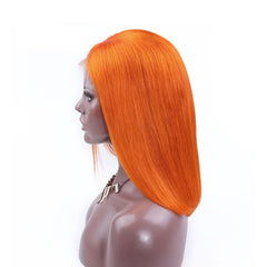 BoB Lace Front Wigs Colored-Orange