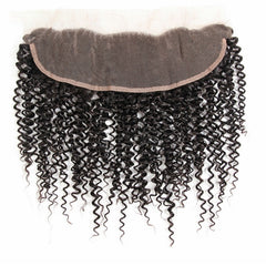 13x4 Human Hair Frontal Closure Kinky Curl