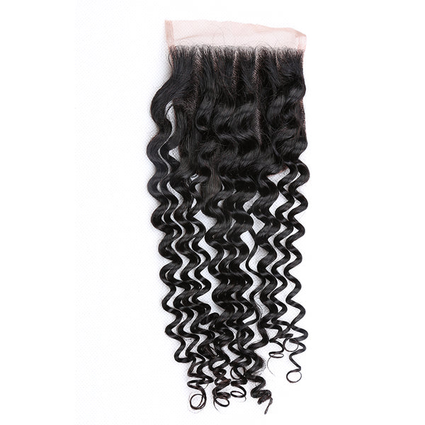 4x4 Human Hair Lace Closure Kinky Curl