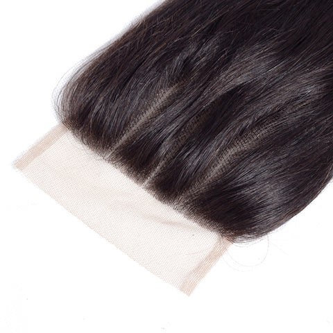 4x4 Human Hair Lace Closure Straight